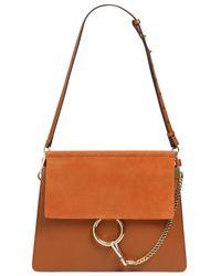 Chloé - Brown Faye Leather & Suede Shoulder Bag - Lyst