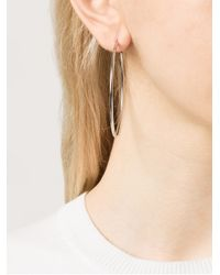 Michael Kors Metallic Skinny Hoop Earrings