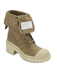 Marc By Marc Jacobs - Green Fold Down Army Boots - Lyst