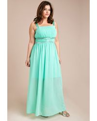 Forever 21 | Green Beaded Maxi Dress | Lyst