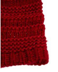 Esprit - Red Bobble Beanie - Lyst
