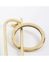Paul Smith - Metallic Small Gold Plated Clip Keyring - Helena Rohner - Lyst