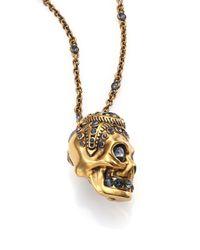 Alexander McQueen | Metallic Victorian Skull Pendant Necklace for Men | Lyst