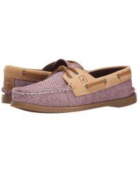 Sperry Top-Sider - Purple A/o 2-eye Flecked Canvas - Lyst