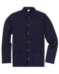 Sunspel - Blue Men's Vintage Wool Jacket for Men - Lyst
