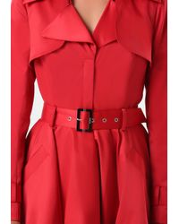 Bebe Red Mab Trench Coat