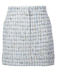 Thom Browne - White Checked Tweed Skirt - Lyst