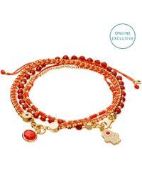 Astley Clarke Red Rebel Love Bracelet Stack
