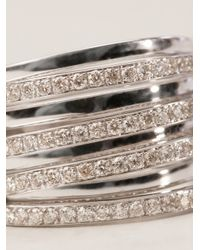 Campbell - Metallic Roller Coaster Floater Ring - Lyst