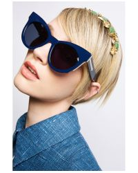 Karen Walker | Blue Starburst Sunglasses | Lyst
