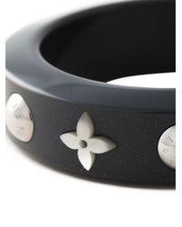 Louis Vuitton - Gray 'Random Flower' Bangle - Lyst