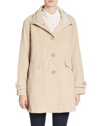 Jane Post | Natural A-line Military Coat | Lyst