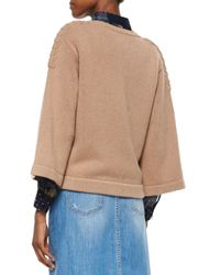See By Chloé Natural 3/4-sleeve Sweater With Braided Detail