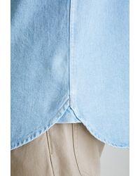 Forever 21 | Blue Denim Button-down Shirt for Men | Lyst