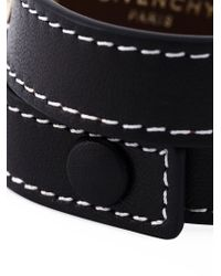 Givenchy | Black Plaque Detail Bracelet | Lyst
