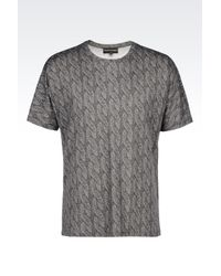 Emporio Armani | Gray Jersey T-shirt for Men | Lyst