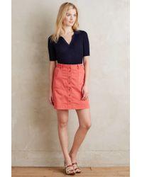 Pilcro - Red Chino Skirt - Lyst