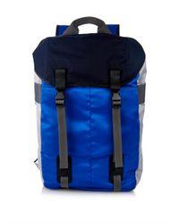 Lanvin - Blue Colour-Block Lightweight Backpack for Men - Lyst