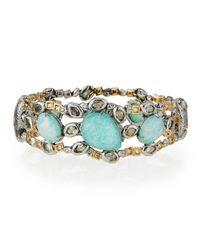 Alexis Bittar - Multicolor Elements Mixed-stone Hinge Bracelet for Men - Lyst