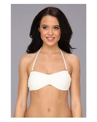Volcom - White Options Open Bandeau Top - Lyst