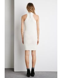 Forever 21 Natural Mock-neck Bodycon Sweater Dress