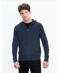 Banana Republic | Blue Waffle Milano Henley Hoodie for Men | Lyst