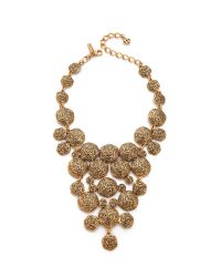 Oscar de la Renta - Metallic Swirl Necklace Russian Gold - Lyst