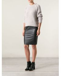 Cedric Charlier - Black Pencil Skirt - Lyst
