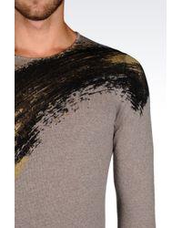 Emporio Armani | Gray Patterned Logo Cardigan for Men | Lyst