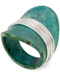 Robert Lee Morris | Green Silver-Tone Wire-Wrapped Sculptural Patina Ring | Lyst