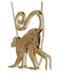Lanvin Metallic Gold-Tone Sherwood Monkey Necklace
