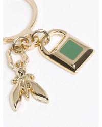 Patrizia Pepe | Metallic Costume Jewellery Brass Ring With Pendant | Lyst