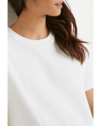 Forever 21 | White Checker-patterned Shift Dresss You've Been Added To The Waitlist | Lyst