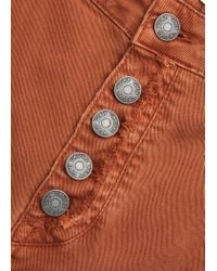 Mango | Brown Flared Buttoned Trousers | Lyst