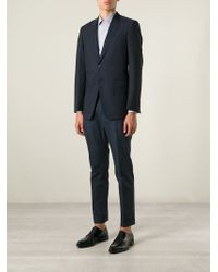 Dolce & Gabbana | Blue Prince Of Wales Check Trousers for Men | Lyst