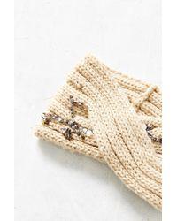 Urban Outfitters - White Embellished Twist Ear Warmer - Lyst