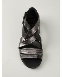Marsèll | Black Double Ankle Strap Sandals | Lyst