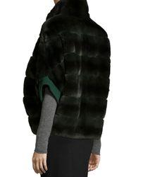 Gorski | Gray Rabbit Fur Zip-Front Jacket | Lyst