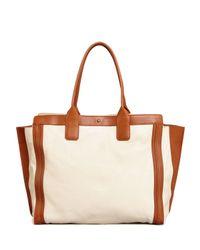 Chloé - White Alison East-West Colorblock Tote Bag - Lyst