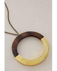 Lena Bernard - Metallic Holz Pendant Necklace - Lyst