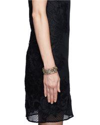 Erickson Beamon Metallic 'temptress' Square Crystal Bracelet