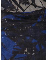 Yigal Azrouël - Black 'Brushstroke' Scarf - Lyst