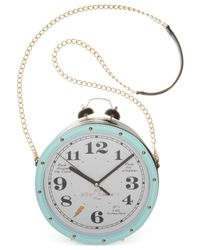 Betsey Johnson - Blue Clock Crossbody - Lyst