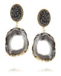 Dara Ettinger | Black Ada Goldplated Druzy and Geode Earrings | Lyst