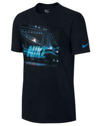 Nike Black Men's Futura Bridge Graphic T-shirt for men