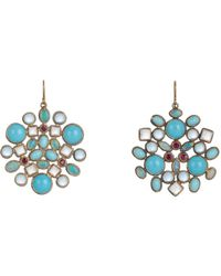 Judy Geib | Metallic Multi Gemstone, Gold & Silver Kaleidoscope Earrings | Lyst