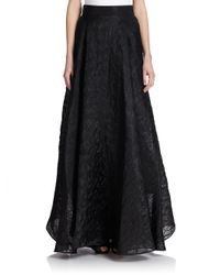 MILLY - Black Organza Circle Maxi Skirt - Lyst