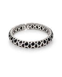 John Hardy | Metallic Naga Enamel & Sterling Silver Slim Flex Cuff Bracelet/Blue | Lyst