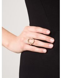 Hoorsenbuhs | Metallic Oval Diamond Ring | Lyst