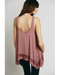 Free People Pink Intimately Womens Outlined High Low Cami
